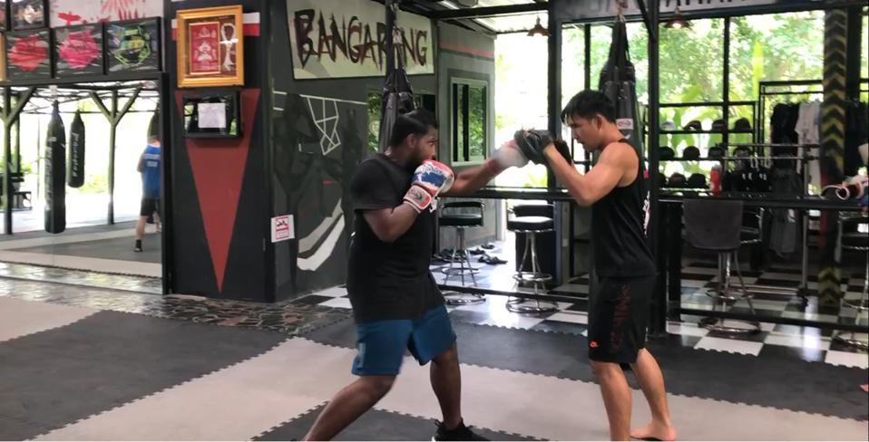 Colin Raja reignited his love of boxing on his trip to Thailand.