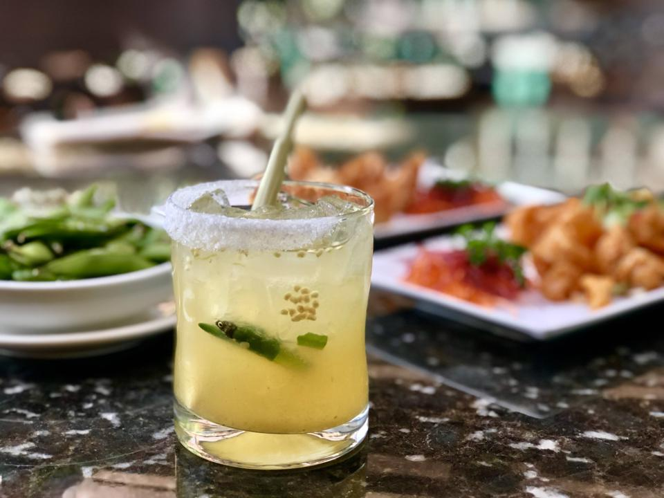 Spicy Thai Margarita at Pin Kaow Thai Restaurant.