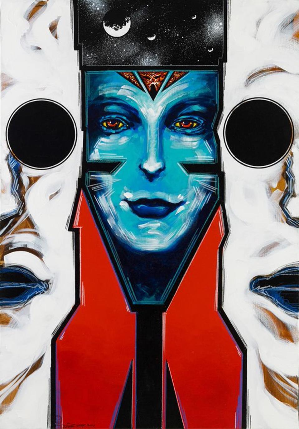 Philippe Druillet's painting ″Loane Sloane 8″