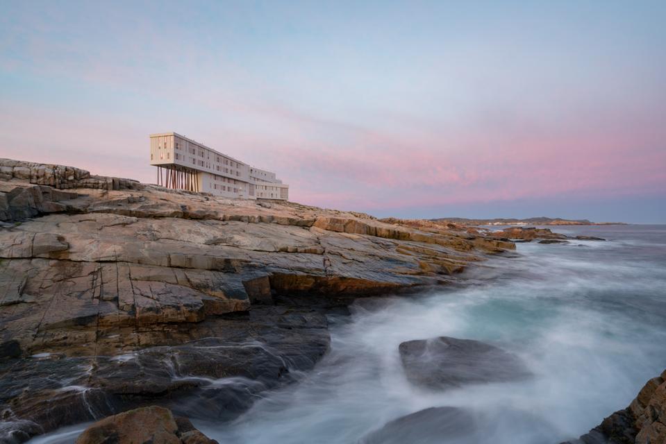 Fogo Island Inn sunset sustainable