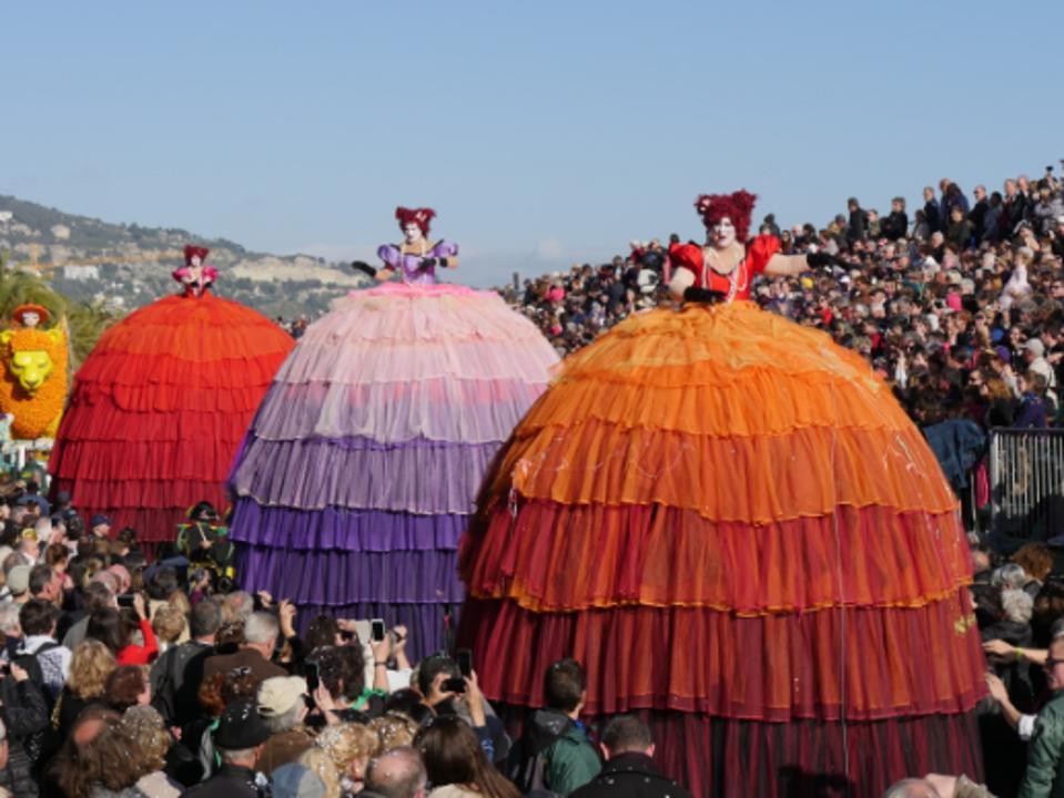 Citrus charriots in the Festival du citron in Menton, south of France