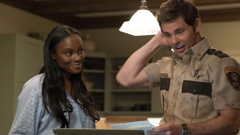 James Marsden and Tika Sumpter in 'Sonic the Hedgehog'
