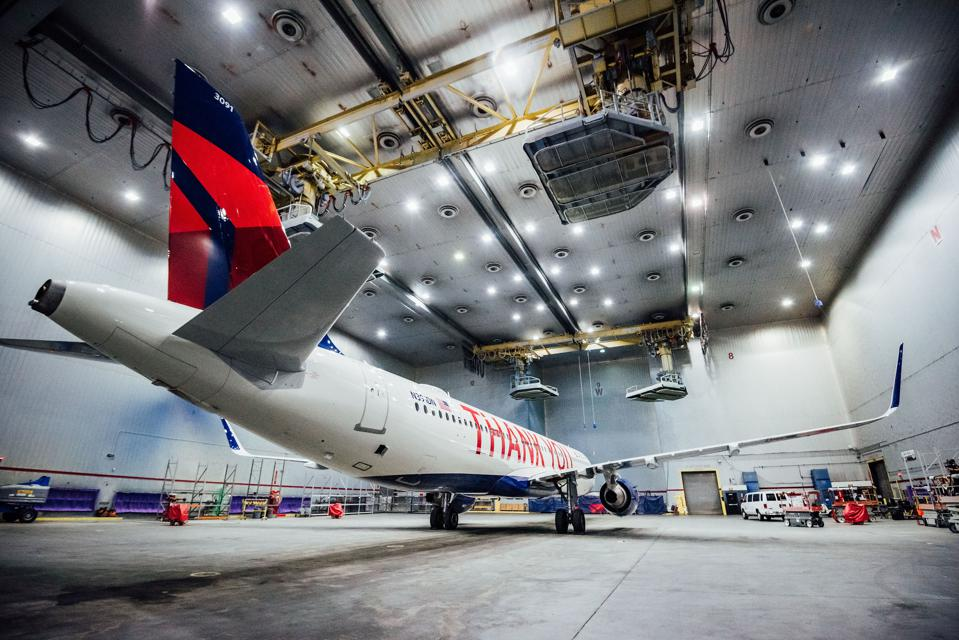 Delta Recognizes Employees With Giant Thank You Plane