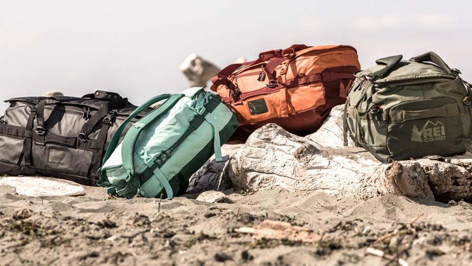 The REI collection of rolling duffels is large enough to fit even the most exorbitant of adventure equipment.