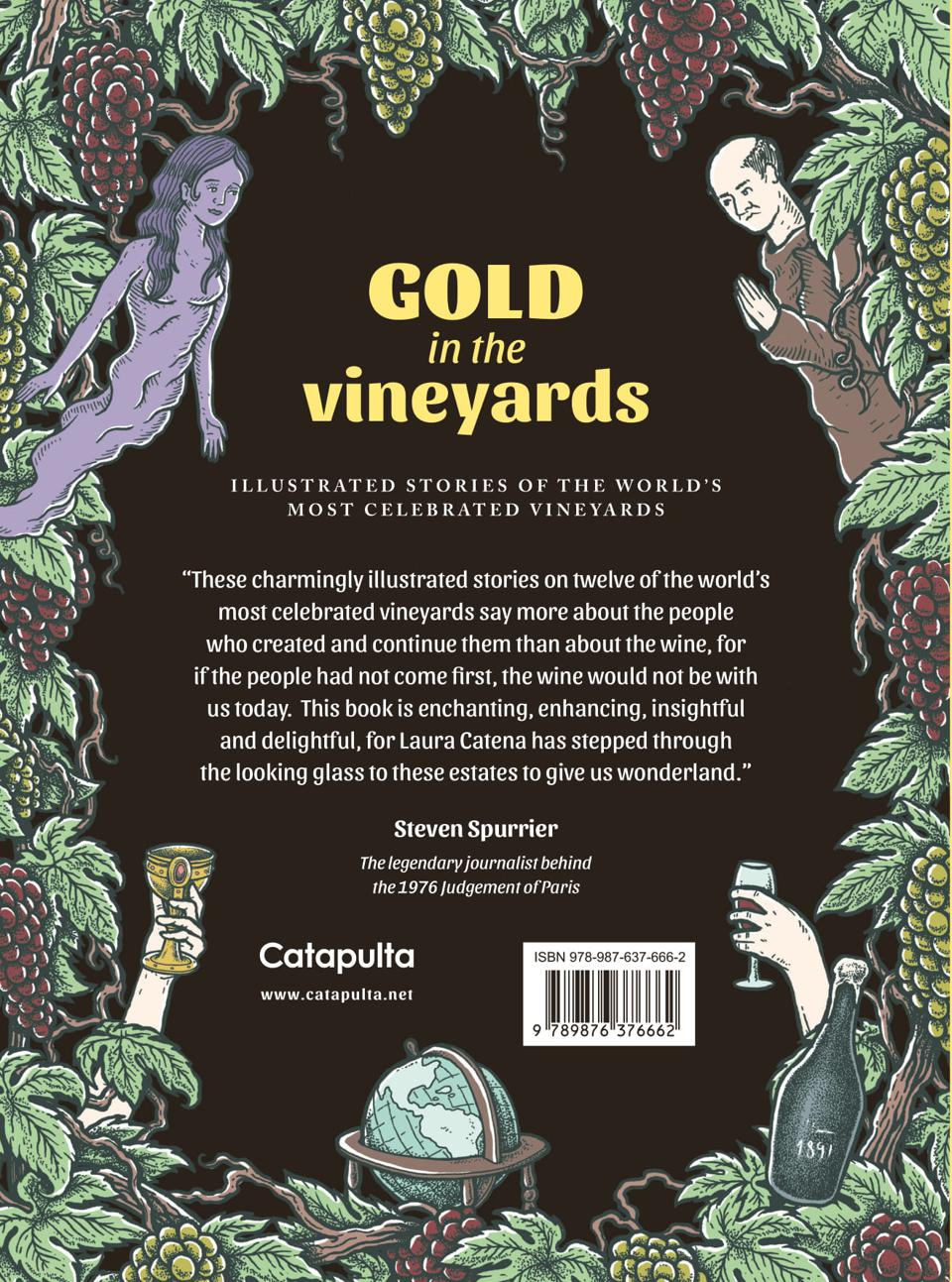 Back cover of Gold in the Vineyards