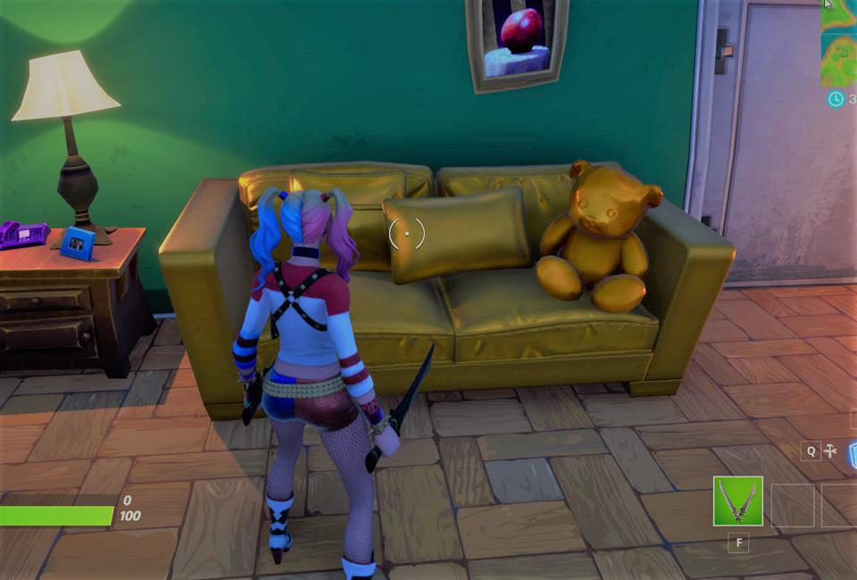 Items Are Mysteriously Turning Gold In 'Fortnite' Ahead Of Next Season — Here's Where To Find Them