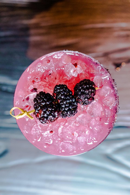 Blackberry Cabernet Margarita at Aqimero at The Ritz-Carlton, Philadelphia.