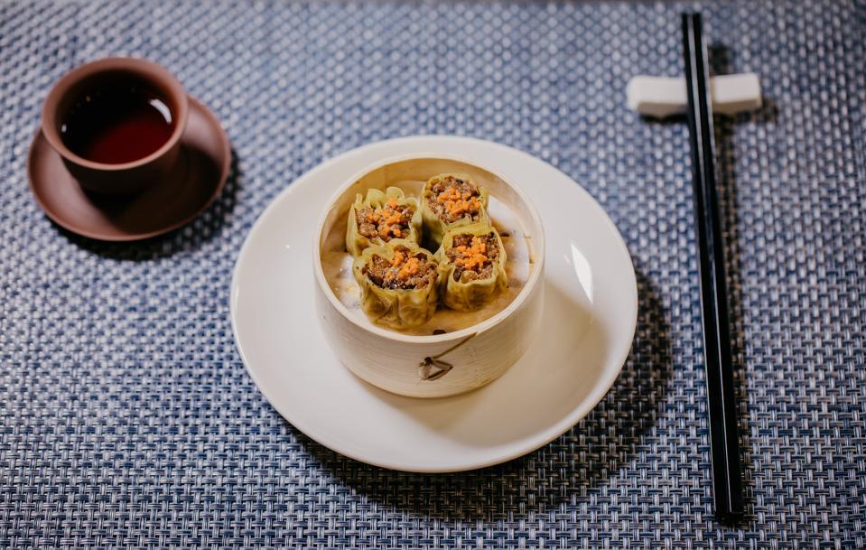 Shiok Meats' cell-grown shrimp dumplings.