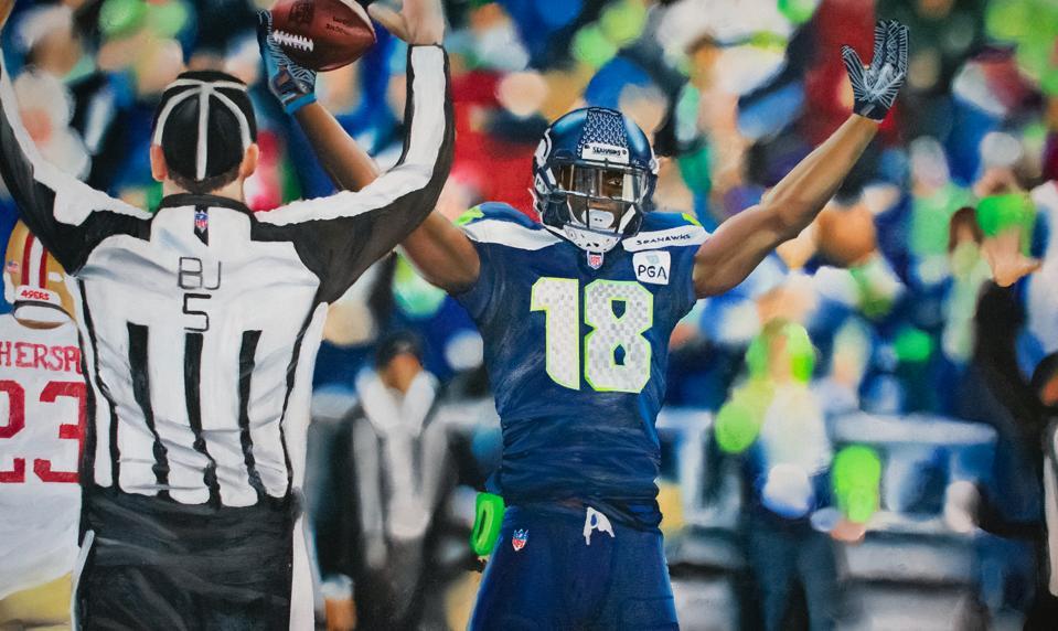 Seattle Seahawks receiver Jaron Brown.