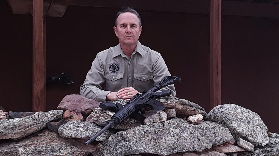 Drew Miller at Fortitude Ranch. Pandemic virus shelter.