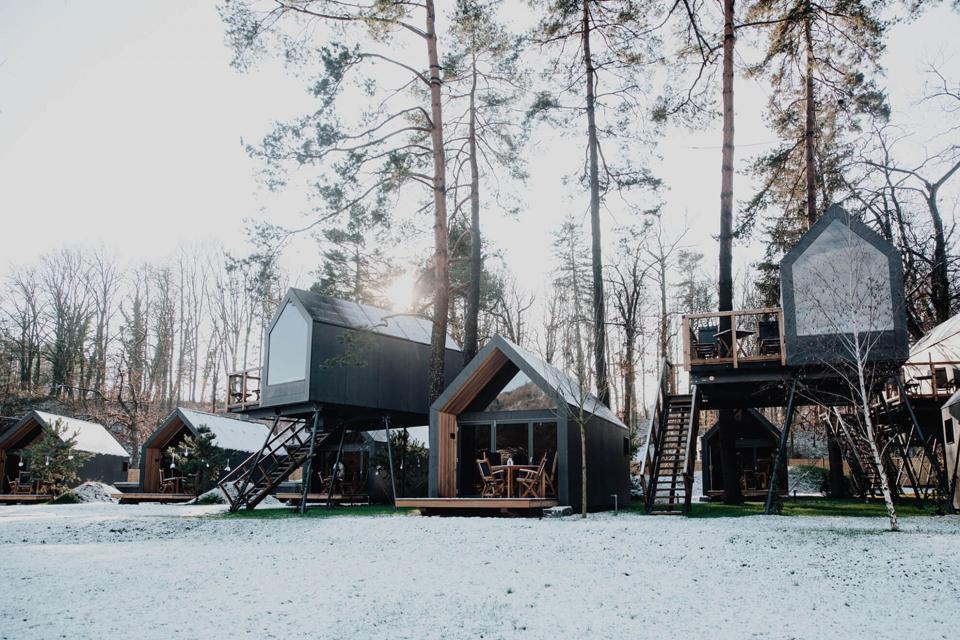 winter chocolate village