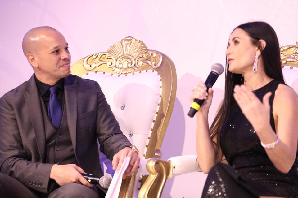 City Gala Founder Ryan Long and Demi Moore