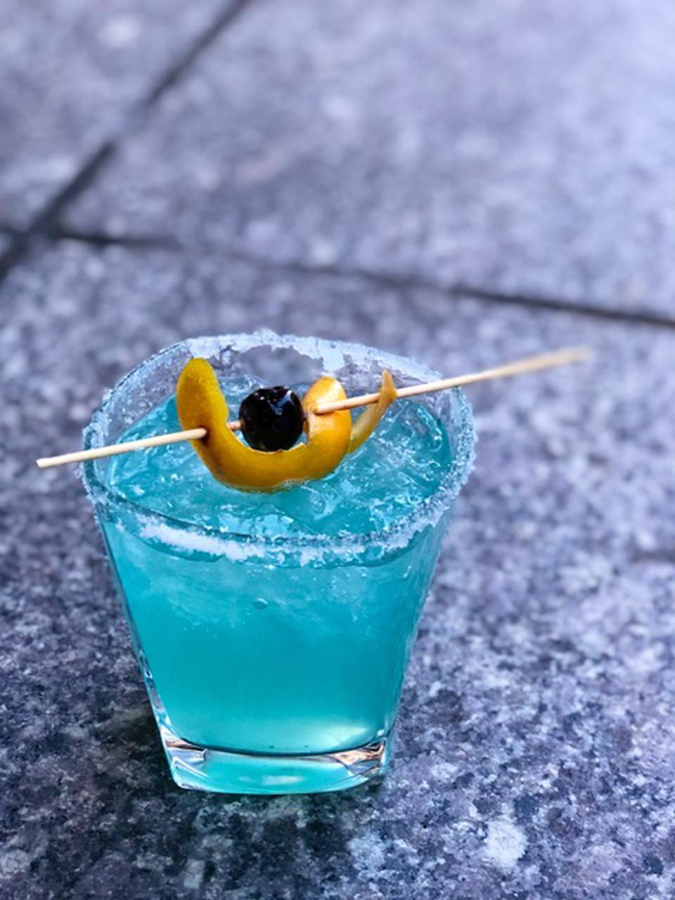 Blue Margarita at Boston-based Back Bay Social.