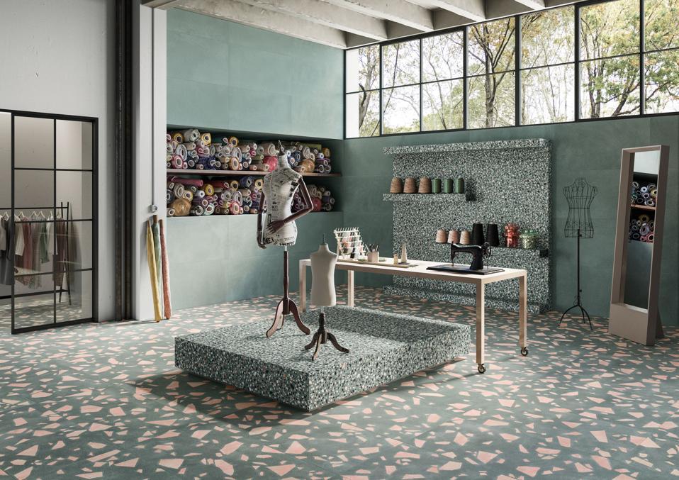 terrazzo-inspired tile