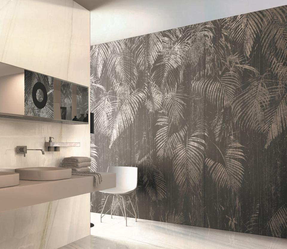 Large-patterned tile with nature pattern