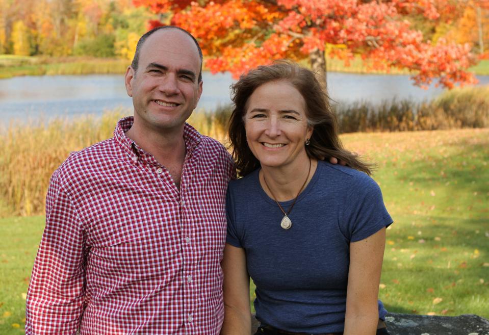 Eric and Laura Sorkin in the sugarbush