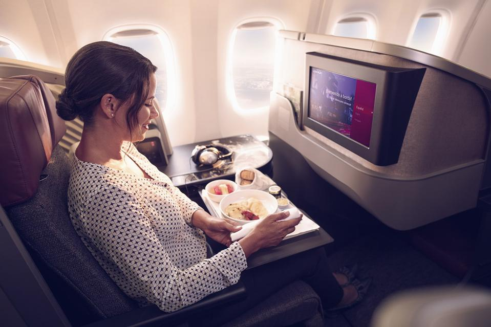 Business class seat on LATAM