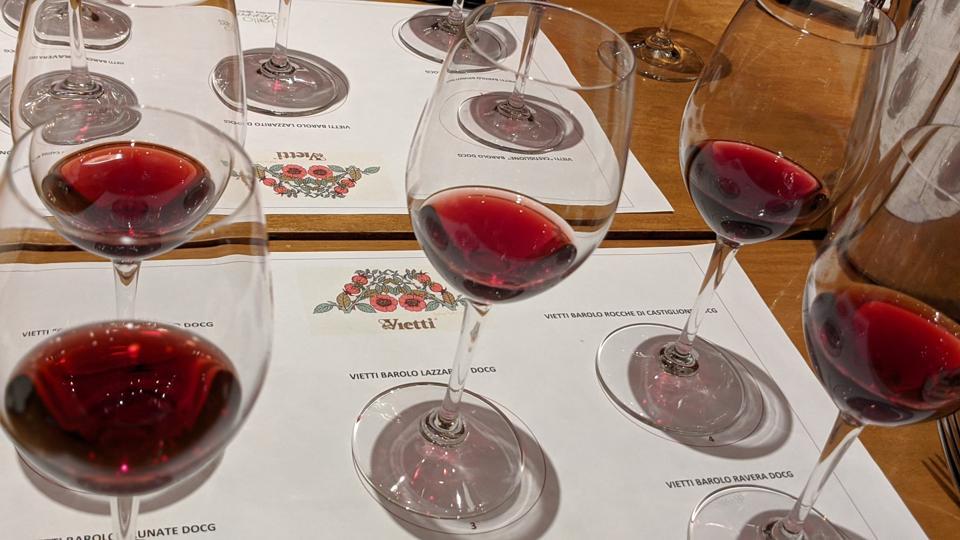 Wines at Vietti Tasting