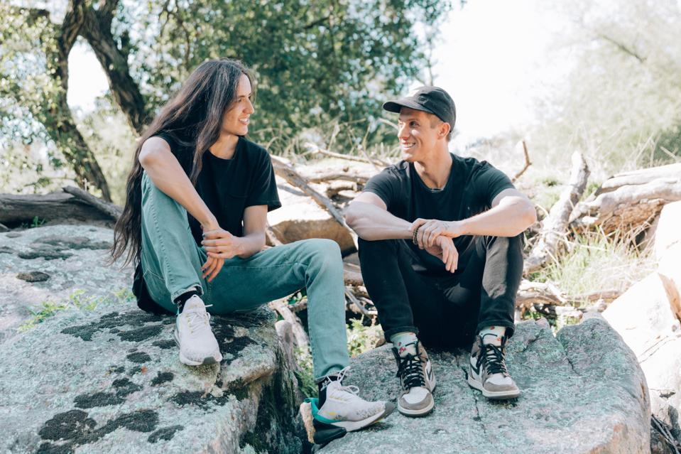 NOW founders Xiuhtezcatl Martinez and Eric Doak on land of the Kumeyaay nation in preparation for a future project to be announced with the San Pasqual tribe. Photographed by Leia Vita Marasovich.