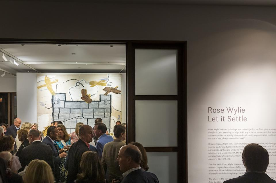 opening night of Rose Wylie's exhibition in Florida