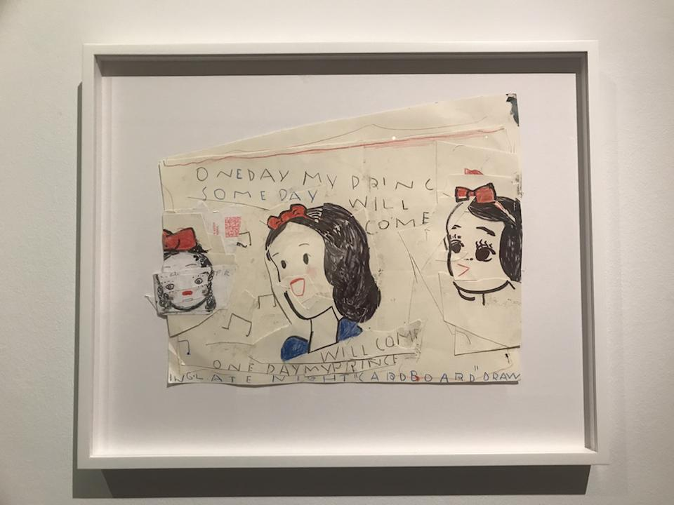 Drawing by Rose Wylie at The Gallery at Windsor
