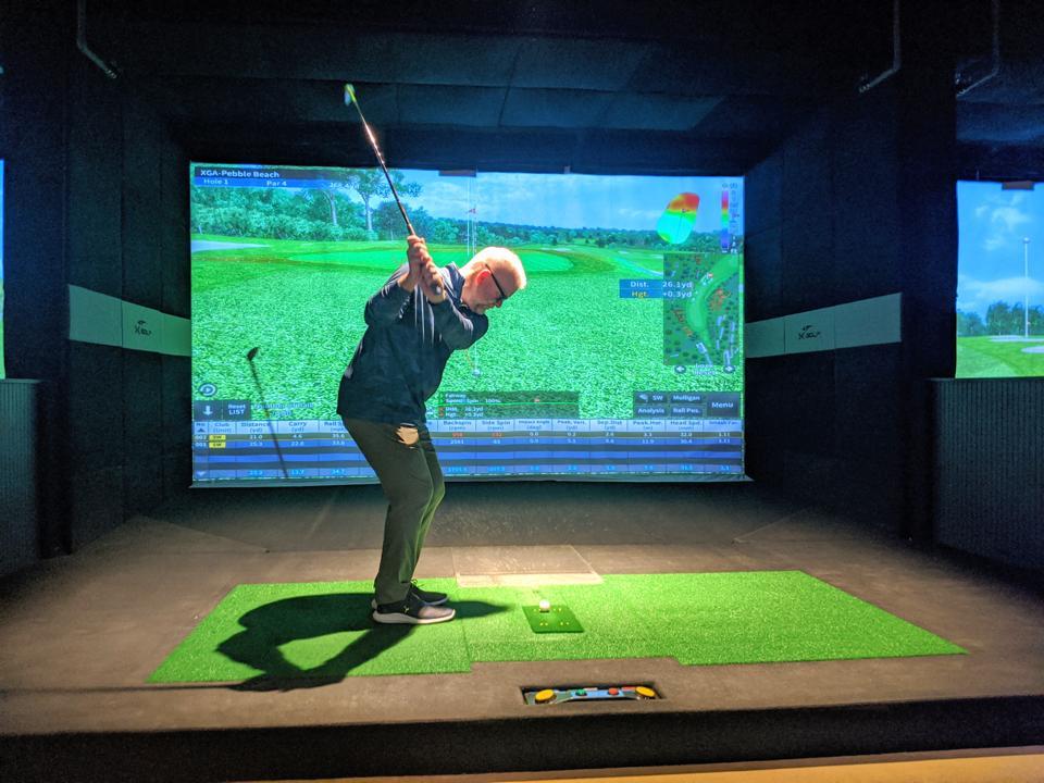 Attacking the pin at X-Golf