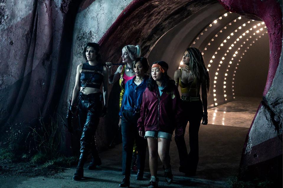 Mary Elizabeth Winstead, Margot Robbie, Rosie Perez, Ella Jay Basco, and Jurnee Smollett-Bell star in Warner's ″Birds of Prey.″