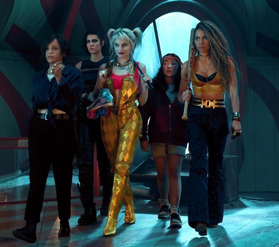 Rosie Perez, Mary Elizabeth Winstead, Margot Robbie, Ella Jay Basco, and Jurnee Smollett-Bell star in Warner's ″Birds of Prey.″