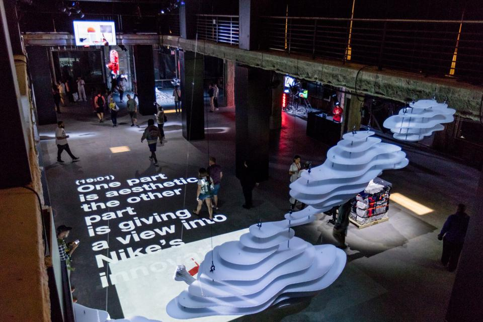 Skylight designed the Virgil Abloh Nike ″Off Campus″ activation at 23 Wall Street, NYC.