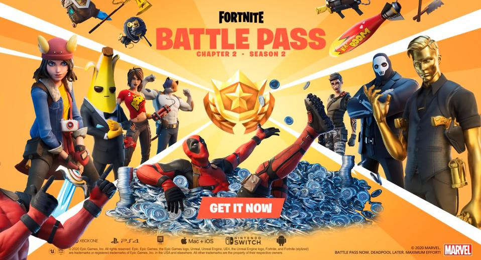 'Fortnite' Chapter 2, Season 2 Battle Pass: Here's What's In It (Deadpool!)