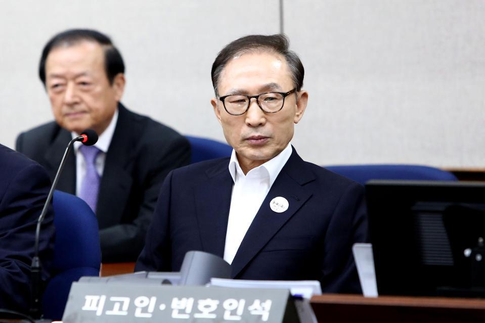 Former South Korean President Lee Myung-bak.