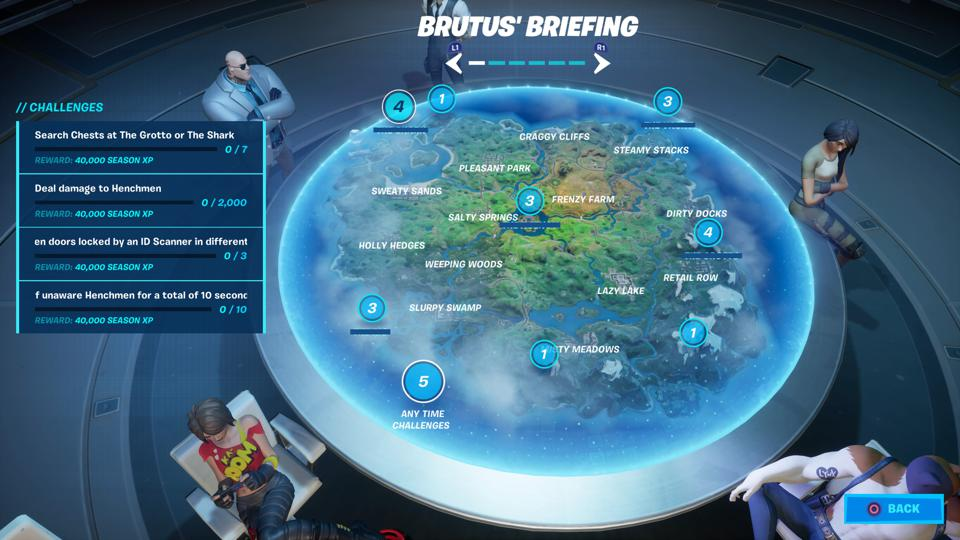 Brutus's Briefing Challenges Fortnite