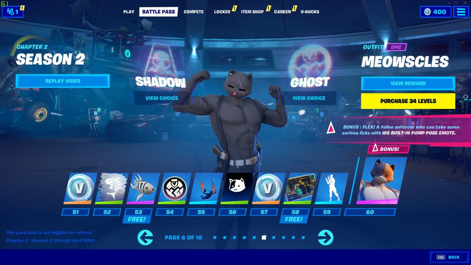 Shadow Meowscles Fortnite