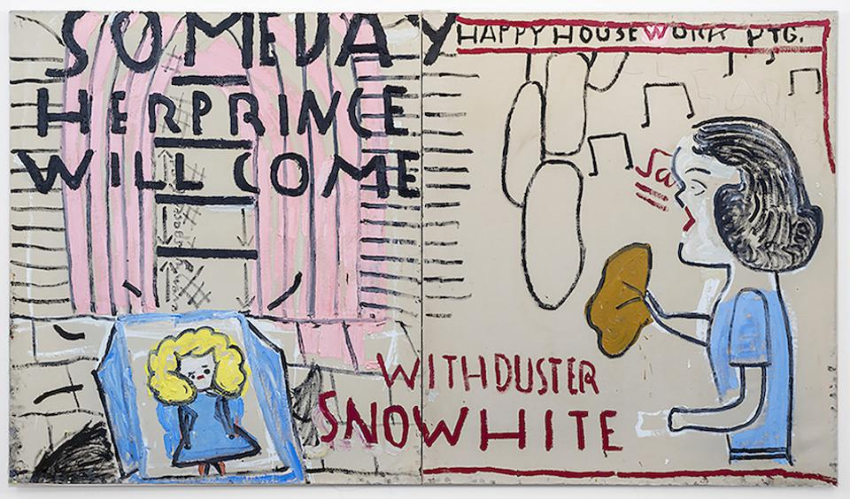 painting by Rose Wylie in Florida gallery