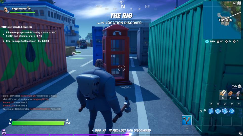 The Rig Phonebooth location Fortnite