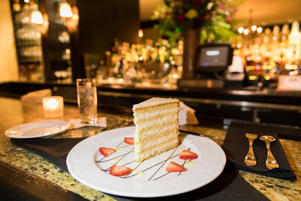 Charleston, SC - The coconut cake at the Planters Inn