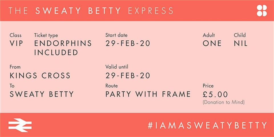 All aboard the Sweaty Betty Express frame