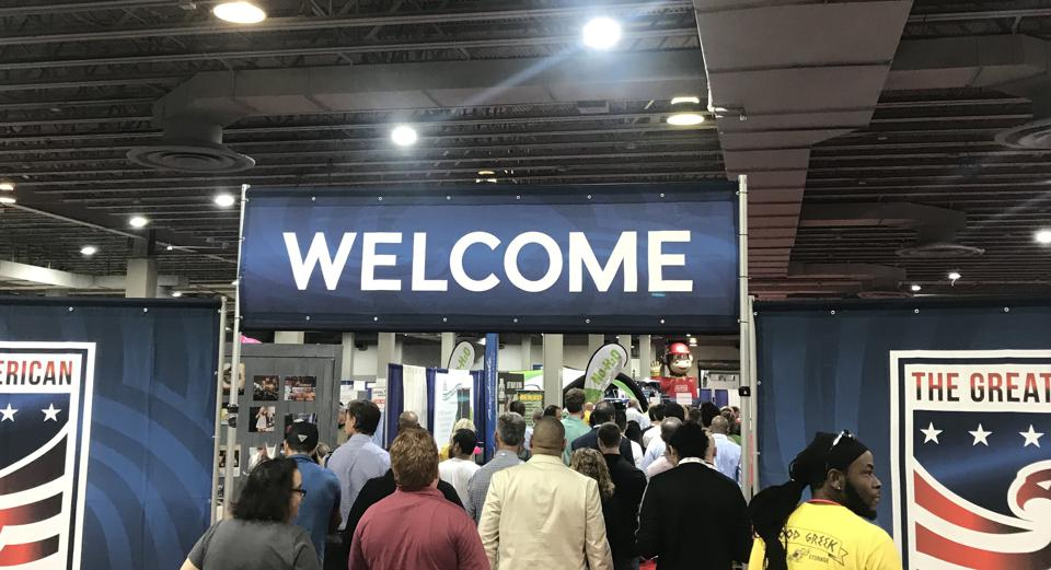 The Great American Franchise Expo welcomes attendees to a recent show.