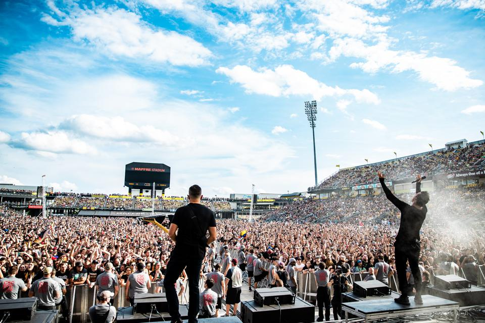 Parkway Drive performing at Sonic Temple 2019