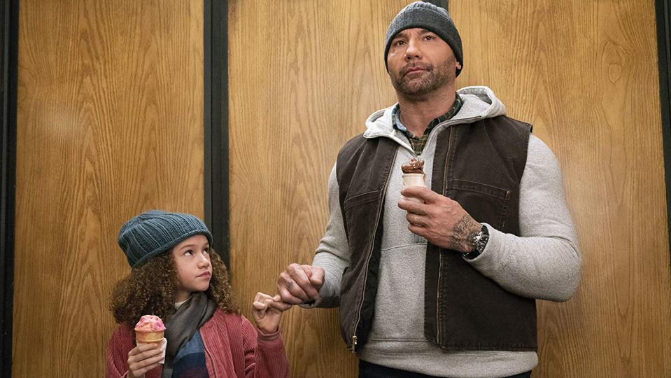 Dave Bautista and Chloe Coleman in 'My Spy'