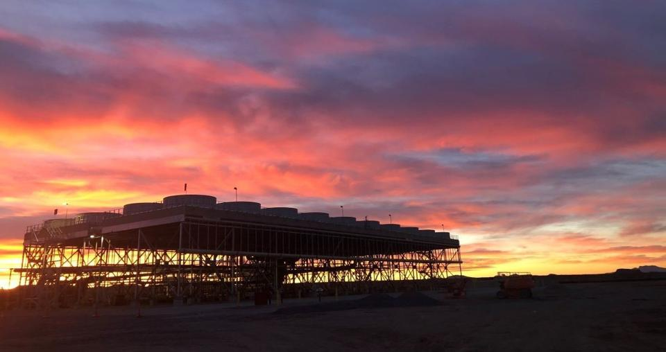The Lightning Dock geothermal power plant in New Mexico