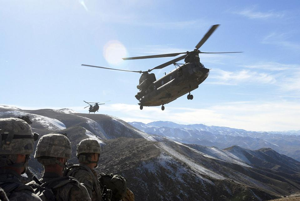 Helicopter, Afghanistan, mountains