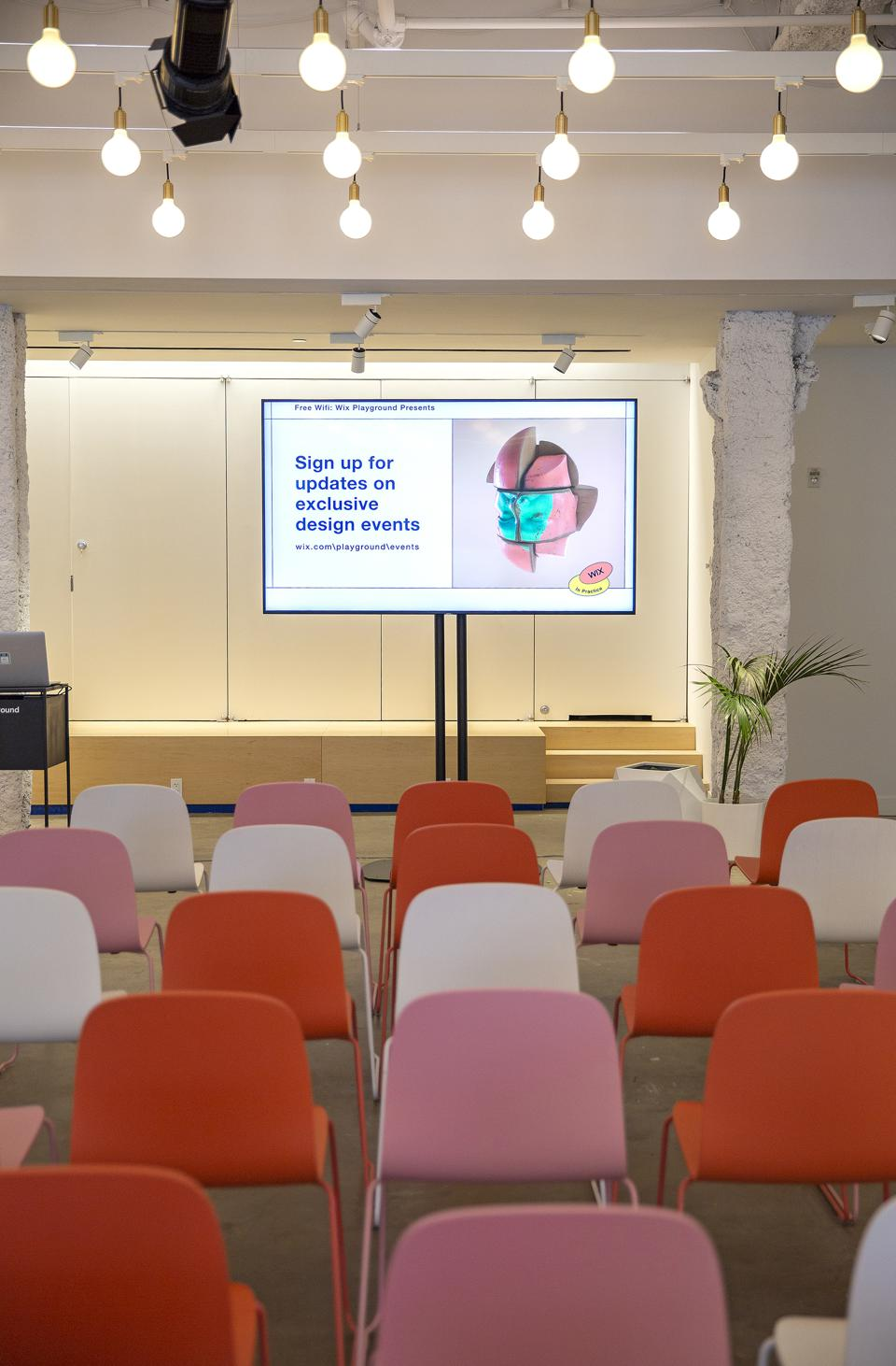 A seminar at the Wix playground in New York
