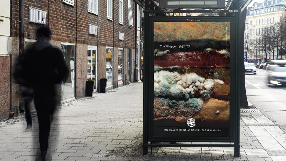 Burger King's new campaign shows what happens when artificial ingredients are removed.