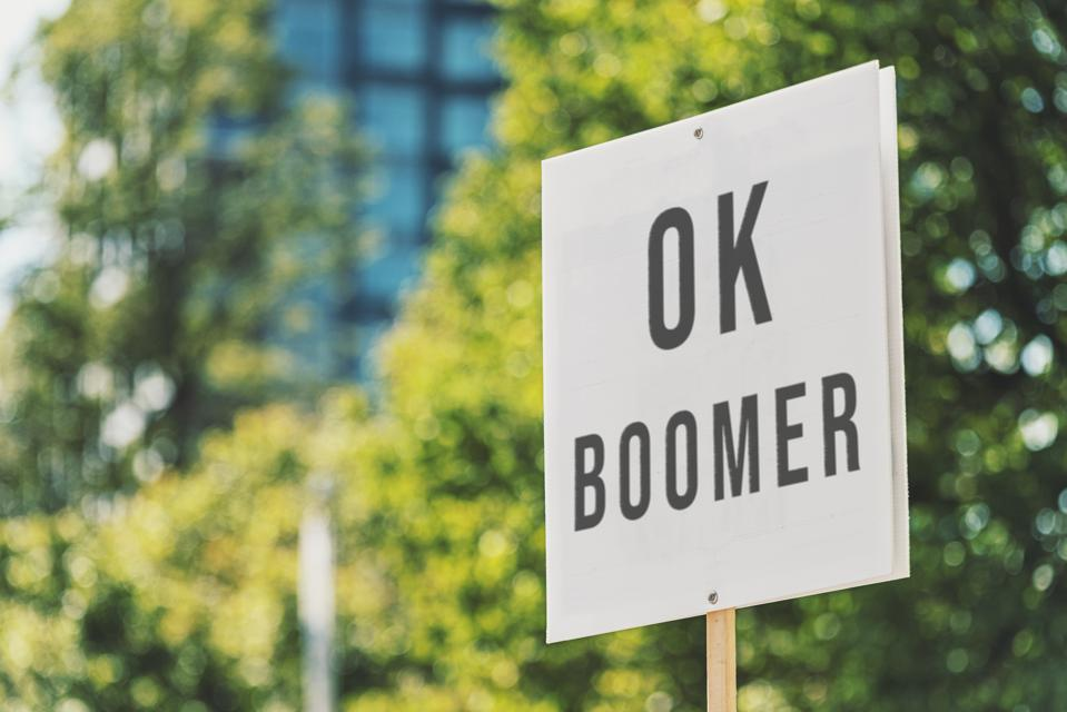 OK Boomer sign