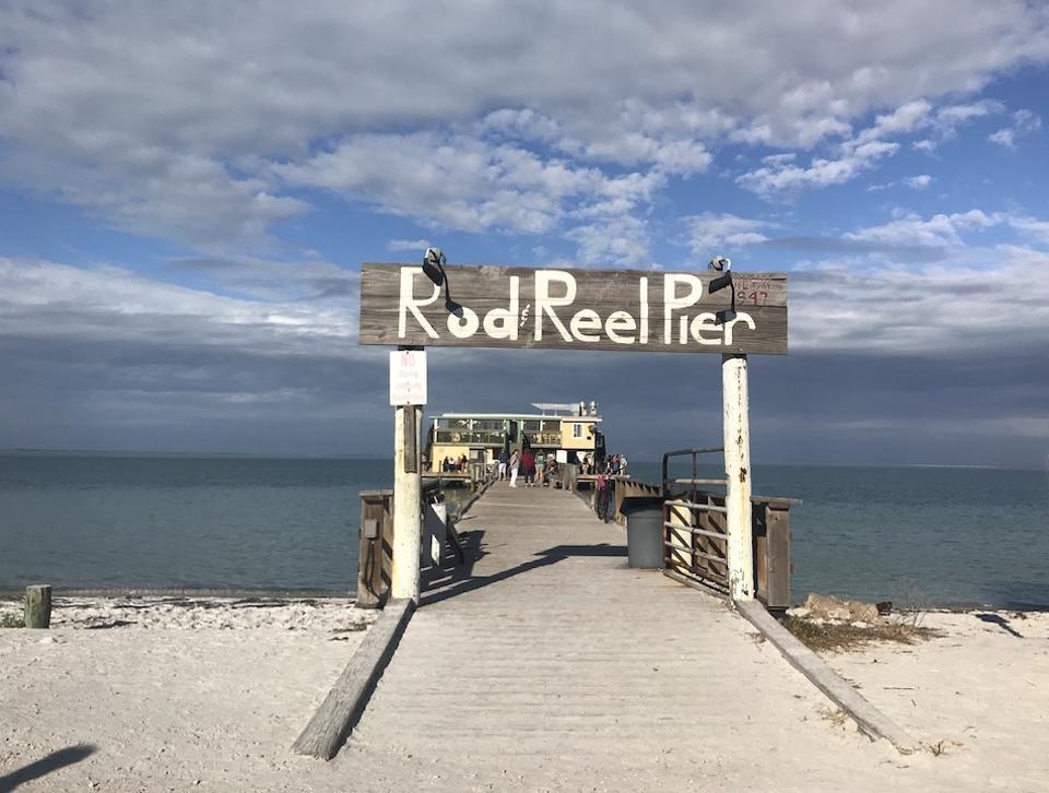 fishing pier and cafe on Anna Maria Island
