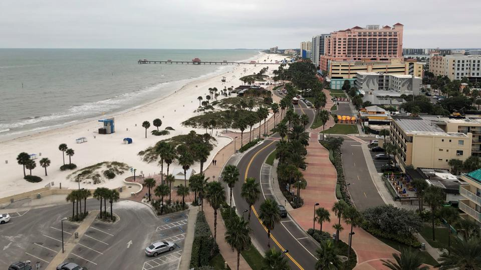 View from Opal Sands Resort in Clearwater, Florida