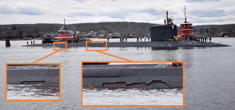 Photo Shows That U.S. Submarines Still Have Stealth Problems