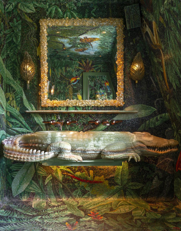 The men's bathroom at Matteo's