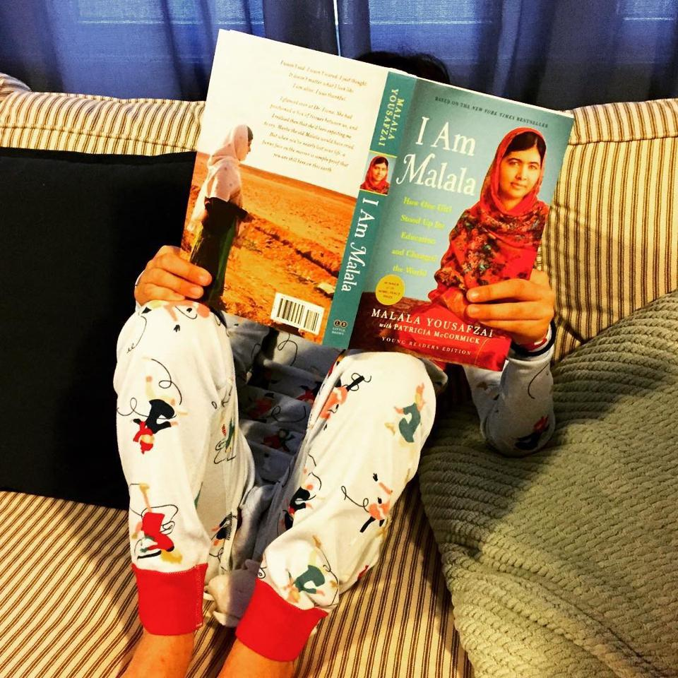 My niece reading